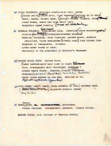 Checklist of Characteristics, page 3