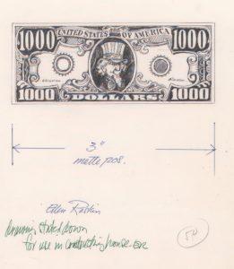 jacket art 1000 dollar bill